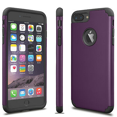 For iPhone 6S 7/8 Plus + Phone Case Luxury Shockproof Rugged Rubber Hard Cover 3