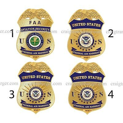Police,United States,Air Marshal,FAA,Federal,Retirement,DOJ,badge,gift,US