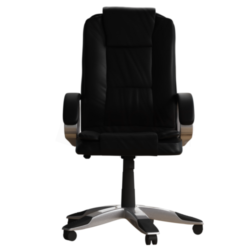 Executive Office Chair Computer Gaming Home Swivel Adjustable Leather Black 9
