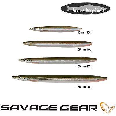 Savage Gear 3D Line Thru Sandeel Black N Yellow Glow 11cm 15g Meerforelle Mefo