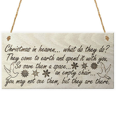 Christmas In Heaven Xmas Tree Decoration Memorial Quote Love Poem