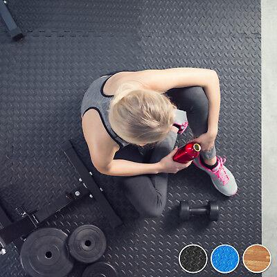 6er Set Schutzmatten Bodenmatte Unterlegmatte Fitness Gymnastik Puzzle blau