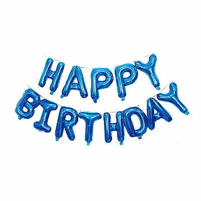 Happy Birthday Balloon Banner Bunting Self Inflating Letters Foil Balloons Party 4