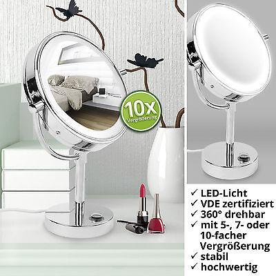 casa pura® Kosmetikspiegel mit LED Beleuchtung 3 hohe Vergrößerungsgrade wählbar