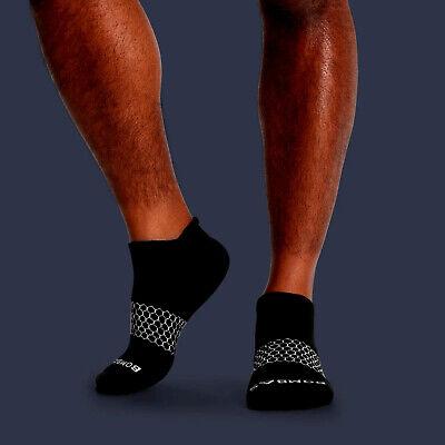 3-Pack Bombas Men's Ankle Socks Black Honeycomb Large 7-12 NWT 4