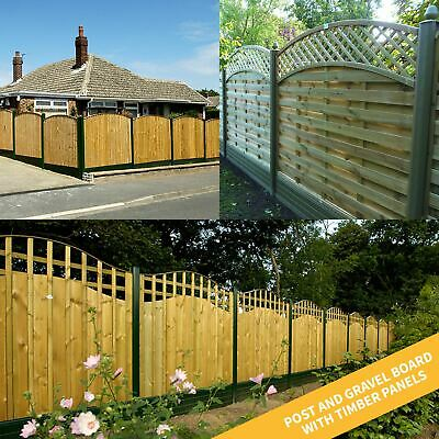Plastic Composite Fence Boards Eco Fencing Replacement uPVC Garden Panels & Post 6