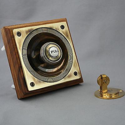 Brass Claverley Front Door Bell Pull & Bell 2