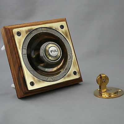 Victorian Style Brass Claverley Front Door Bell Pull & Bell 2