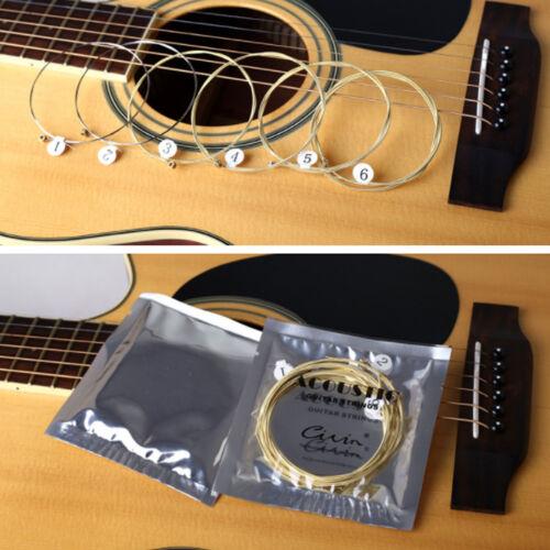 6 PCS Acoustic Guitar Strings Set Phosphor Bronze & Steel Strings 6