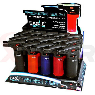 Eagle Jet Gun Torch Lighter Windproof Refillable Lighter Butane - Pack of 4