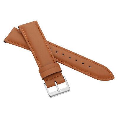 MARCHEL Lederarmband LLB Premium Glatt Silber Gold Schließe Uhrenarmband Uhr 6