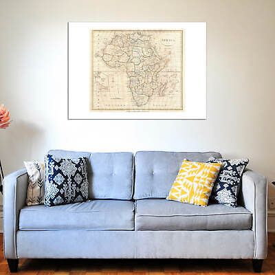 Africa Map Clement Cruttwell 1799 Wall Art Poster Print 10