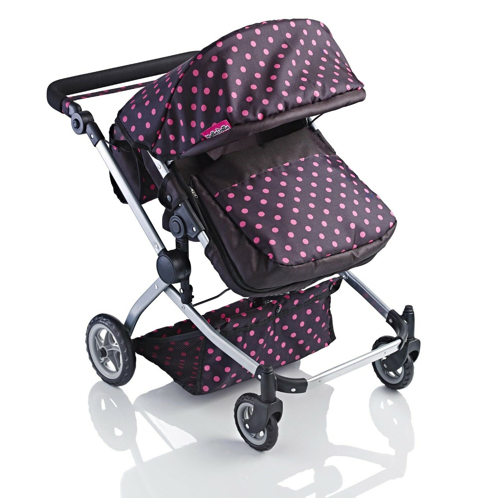 Molly Dolly 2 in 1 Twin Deluxe Babyboo Doll Stroller/Pram Buggy Girls Junior Toy 3