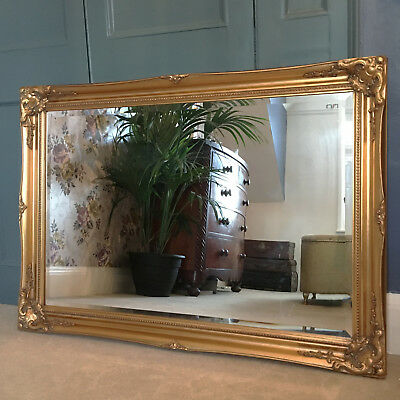 Vintage Style Large 3FT FRENCH Ornate MIRROR Ivory Gold Black White or Silver 3
