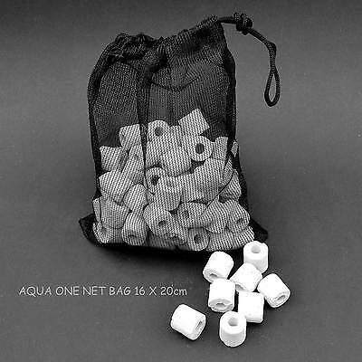 ONE GENUINE AQUA ONE DRAWSTRING CARBON OR NOODLE NET BAG=20X16cm=£1.99 FREE POST 2