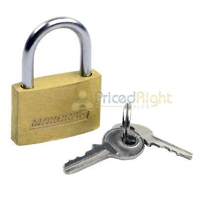"2 pack Lot 1"" Inch Key Padlock Mini Tiny Small Brass Lock Luggage Toolbox Box 3"