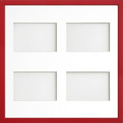Frame Company Jellybean Red Wooden Multi Aperture Collage Photo frame & Mount 10