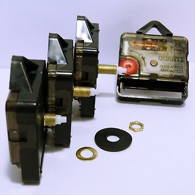 Quartz clock movement sweep mechanism (non ticking) with hands and battery 2