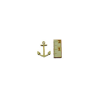 Anker Mini 15 Stück 2cm aus Holz Maritim Tischdeko Kartenbasteln Meer