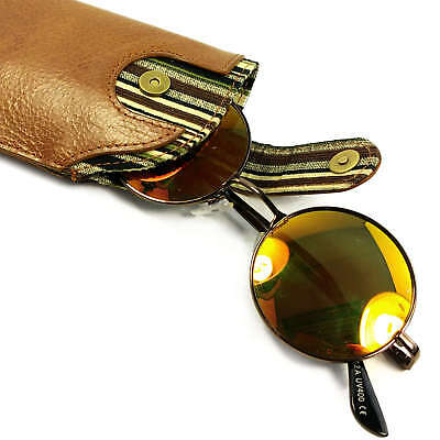 Alston Craig Personalised Vintage leather case for Glasses / Sunglasses - Brown 2