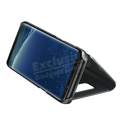 Case For Samsung Galaxy S7 S8 S9 Plus Smart View Mirror Leather Flip Stand Cover