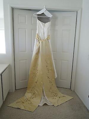 Lazaro Wedding Dress W Gold Embroidered Sash Size 10 Street Size 4 700 00 Picclick,Wedding Dress Utah