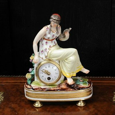 Rare Vienna Porcelain Boudoir Clock C1880 2
