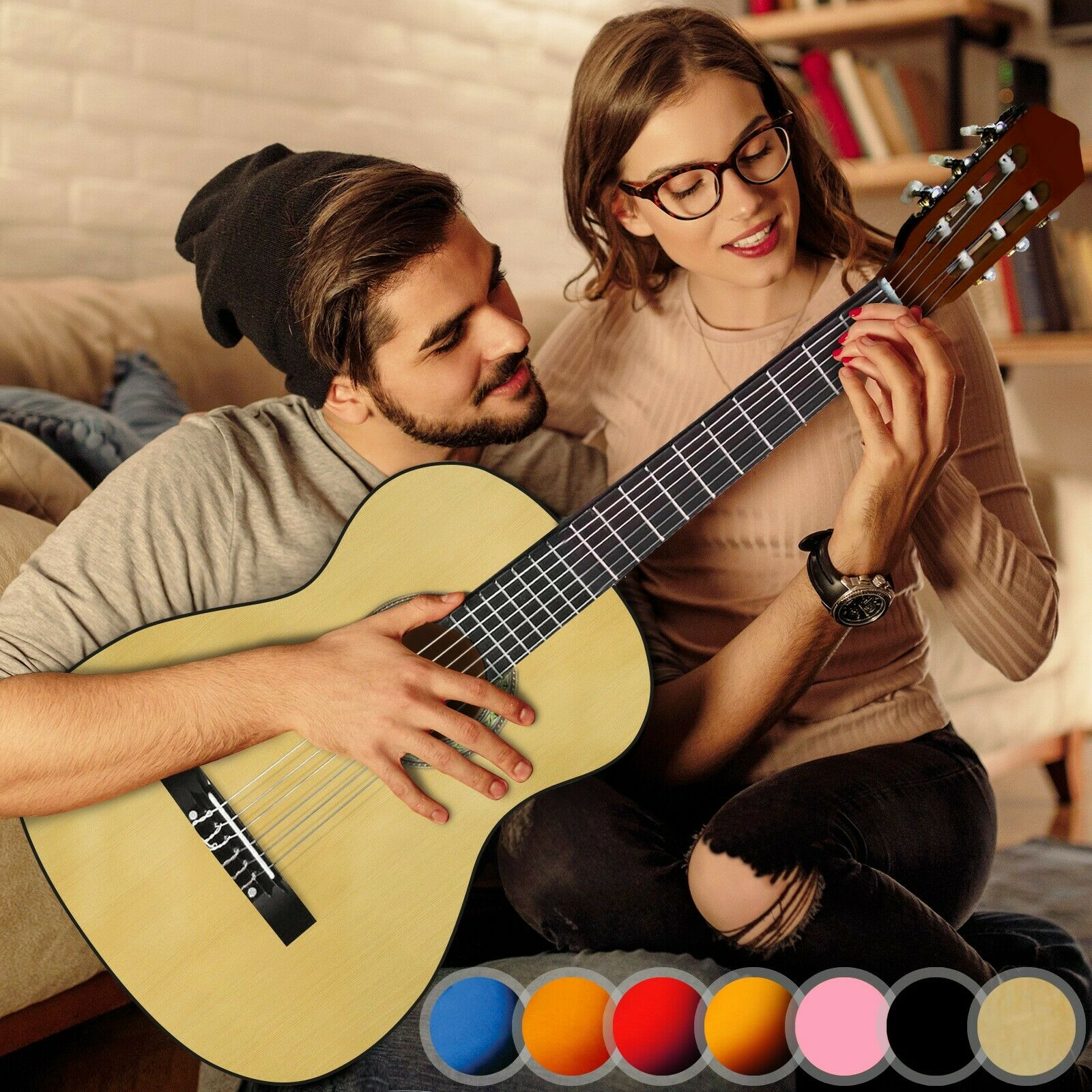 Akustikgitarre Gitarre 4/4 Konzertgitarre Klassikgitarre Westerngitarre 3