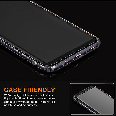 For Samsung Galaxy S9 S8Plus Note8 4D Full Cover Tempered Glass Screen Protector 5