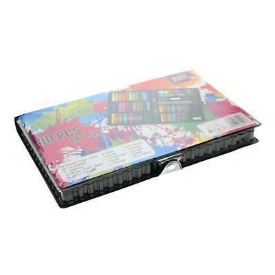 90pc Art Set Kids Watercolour Pens Crayons Pencils Sponge Scissors Oil Pastels 2