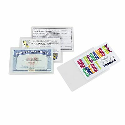 Insurance Card 3PC Social Security Card Protector Also Fit Hunting Licence,FSC