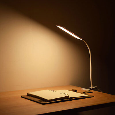 5W USB Flexible Clip-On Desk Bedside Reading Study Book Lamp LED Light Dimmable 6