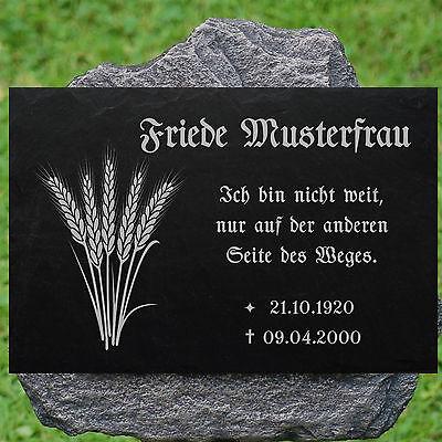 Grabstein Nachruf Gedenkstein Jagd 01► Gravur mit Inschrift + Motiv◄ 35 x 25 cm 2