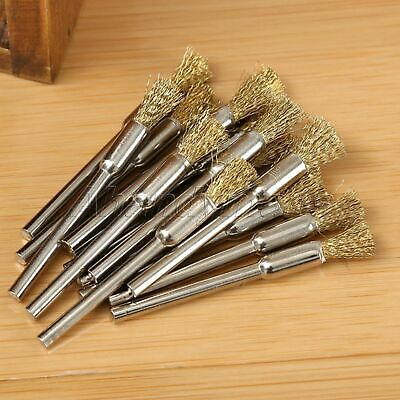 15pcs 5mm Brass Wire Brushes Wheel For Grinder Drill Rust Weld Power Rotary Tool 6