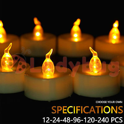 Led Tea Light Candles Tealight Flameless Wedding Battery Included White 5