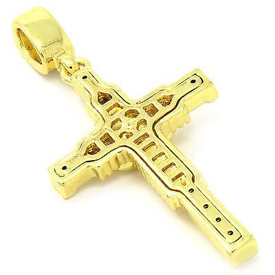 Mens 14k gold plated jesus hanged cross pendant with 4mm 24 inches mens 14k gold plated jesus hanged cross pendant with 4mm 24 inches rope chain aloadofball Images