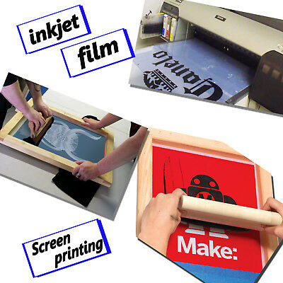 13x19,50 sheets,Waterproof Instant-dry Inkjet Transparency Film Screen Printing