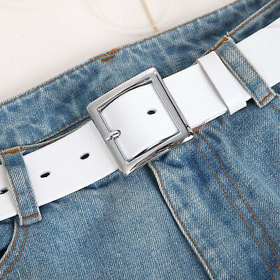 Women's Jean Belt, Classic Square Buckle Handcrafted Genuine Leather Belt 11
