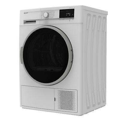 Wäschetrockner Trockner Wärmepumpentrockner A++ Sharp KD-GHB7S7GW2-DE 7kg _2ML 8