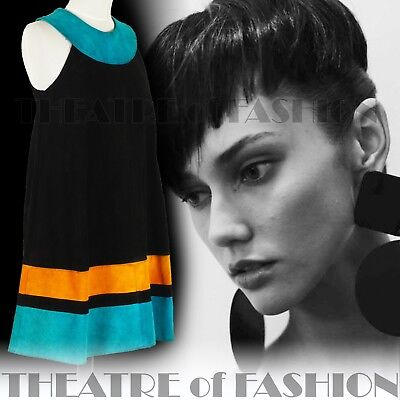 DRESS 60s SUEDE LEATHER VINTAGE OUTSTANDING ART ICONIC RARE LIKE COURRÈGES GOGO 7