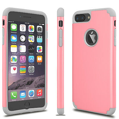 For iPhone 6S 7/8 Plus + Phone Case Luxury Shockproof Rugged Rubber Hard Cover 9