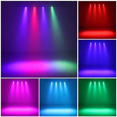 Complete Professional 4-Par Stage LED Lights DJ Band DMX System & Stand MU-L31A 8