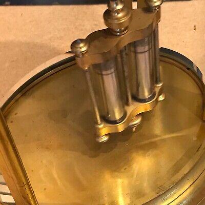 Superb french bevelled glass Japes Frees Victorian gilt framed clock 9