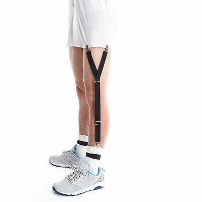 1 Pair of Y Style Shirt Stay Mens Garter Suspenders Military Uniform Holder Sock 9