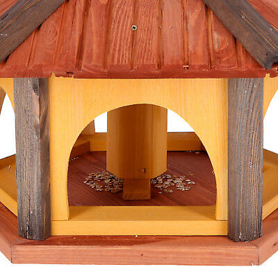 Mangeoire d'oiseaux mangeoires à oiseaux mangeoire avec le support bois jardin 4