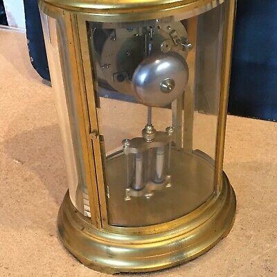 Superb french bevelled glass Japes Frees Victorian gilt framed clock 7