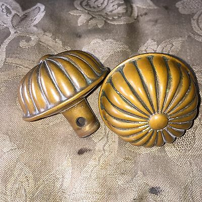 ANTIQUE PAIR BRONZE DOORKNOB Victorian  Art Noveau #2