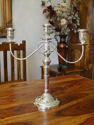 Kerzenhalter Silber Jugendstil Kandelaber Kerzenleuchter Antik Kerzenständer NEU 4
