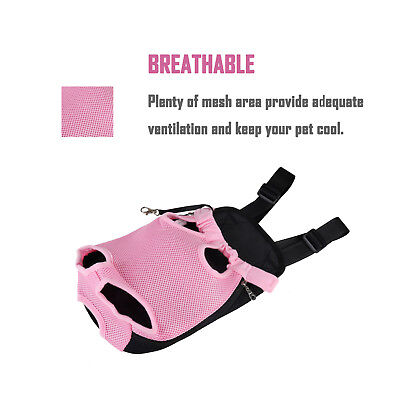 Pet Carrier Backpack Adjustable Pet Front Cat Dog Carrier Travel Bag Legs Out 4
