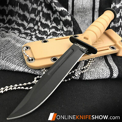"""6"""" TACTICAL COMBAT SURVIVAL Tan Spear HUNTING KNIFE Bowie Military Fixed Blade 2"""